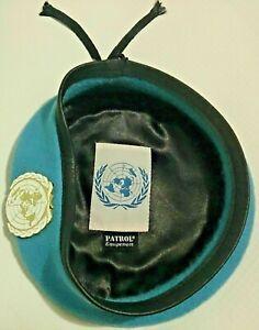 Beret-Bleu-ONU-O-N-U-Organisation-des-Nations-unies-avec-insigne-Taille-58