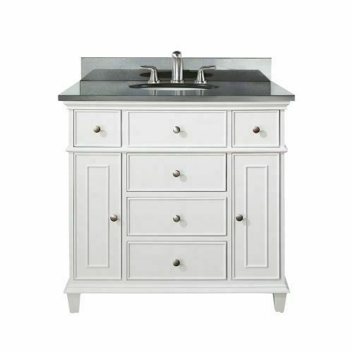 Avanity Windsor 36 Inch White Vanity With Black Granite Top And Undermount Sink For Sale Online Ebay