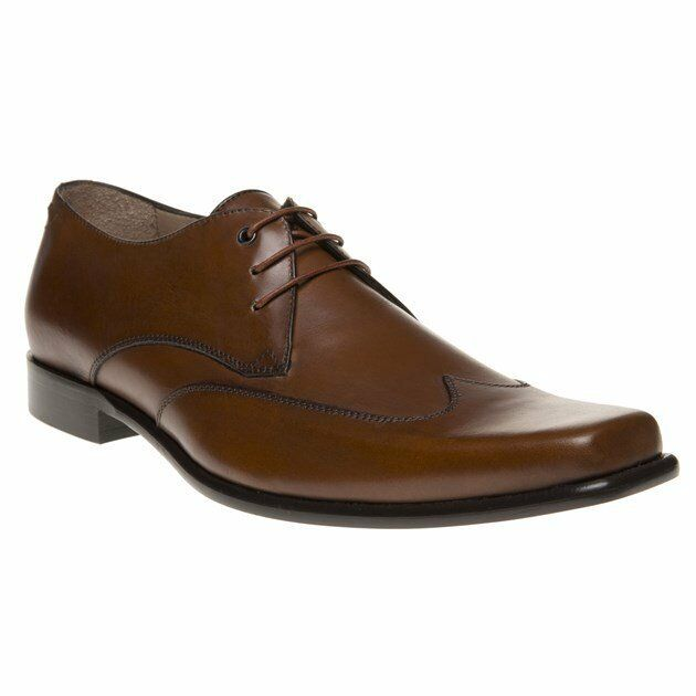 New Mens SOLE Tan Kilner Leather Shoes Lace Up