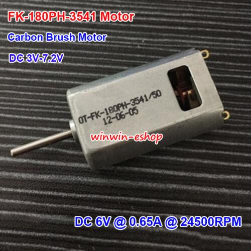 Micro 180 Motor DC3V-7.2V 24500RPM Carbon Brush FK-180PH-3541 Motor For aircraft