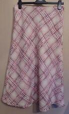 Per Una UK12L EU40L US8L new pink tweed lined skirt with frayed hemline