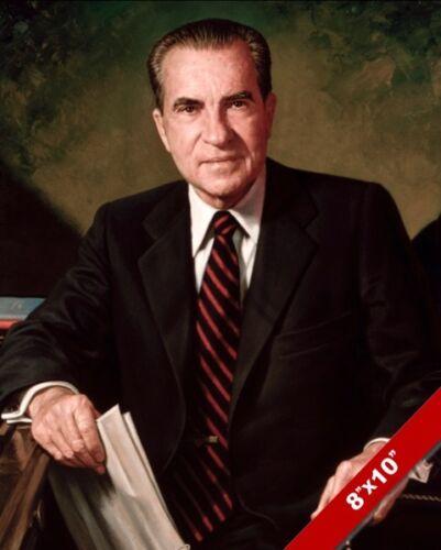RICHARD NIXON US PRESIDENT PORTRAIT AMERICAN HISTORY PAINTING ART CANVAS PRINT
