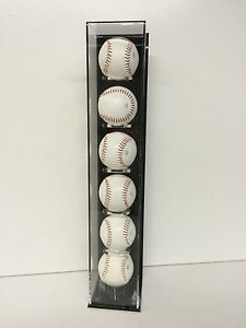 Baseball Display Case Vertical Wall Mount Holds 6 Balls