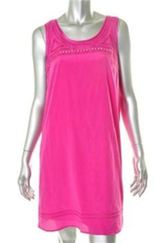 DKNY Pink Silk Silk Silk Day Tank Dress Size Large NWT  345 fbbd31