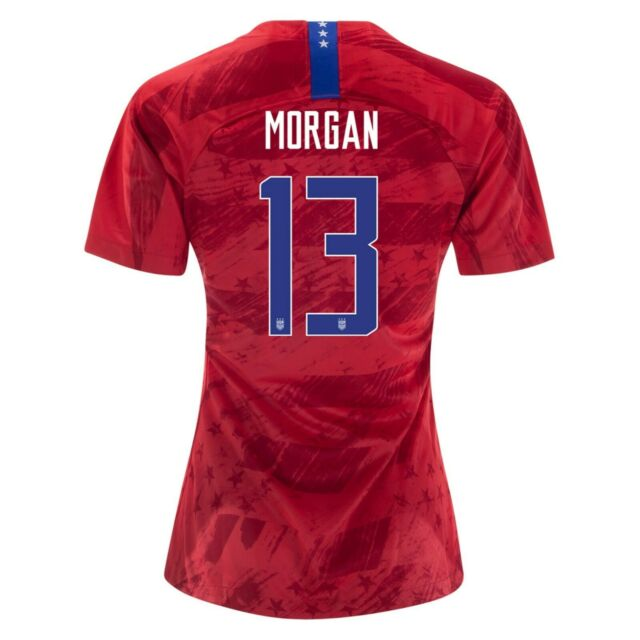 finest selection 11b76 95b16 Alex Morgan #13 USA WOMENS Red 2019 World Cup SOCCER JERSEY
