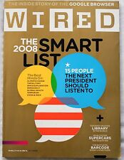 WIRED Magazine, October 2008 The 2008 Smart list, Inside Story of Google Browser