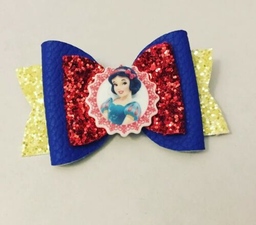 "3.5/"" Double Layered princess Themed Bow With Resin"