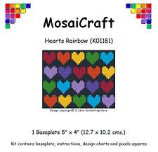 MosaiCraft Pixel Craft Mosaic Art Kit 'Hearts Rainbow' Pixelhobby