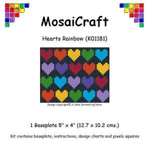 Détails Sur Mosaicraft Pixel Craft Art Mosaïque Kit Coeurs Arc En Ciel Pixelhobby Afficher Le Titre Dorigine