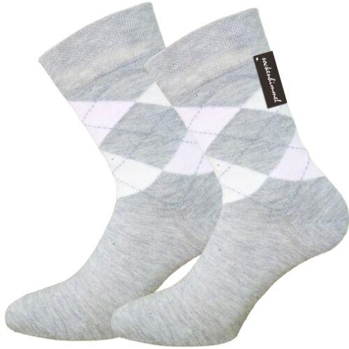 venenfreundlich und 85/% Baumwolle Karo-Socken für Damen ohne Gummidruck 6 Paar
