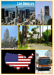 Novelty Fridge Magnet Los Angeles USA