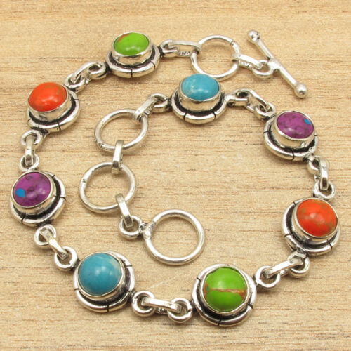925 Silver Plated APATITE /& More Stones CHOICES Variation Bracelet New