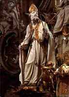 Religion Motiv-PK Basilika Vierzehnheiligen St. Blasius Altar-Figur am Altar