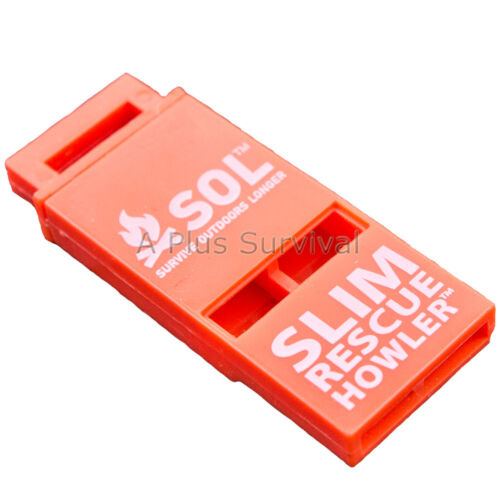 Slim Rescue Howler Whistle Ultra Light Coast Guard Approved 100 db Pealess