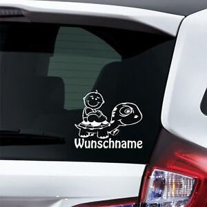 Wunschname-Baby-an-Bord-Junge-Schildkroete-Autoaufkleber
