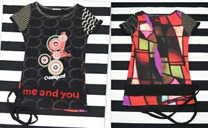 Desigual-Donna-Superdry-IN-JERSEY-STRETCH-MANICA-CORTA-T-Shirt-Top-Camicetta-039-IO-E-TE-034