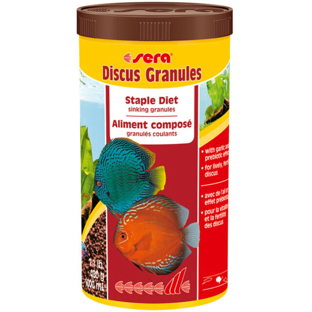 Discus Fish Food Sera Discus Granules 1000 ml 17 oz FAST FREE USA SHIPPING