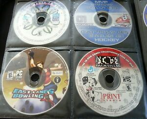 PC-Game-CD-039-s-Lot-of-4-Be-a-Millionaire-Hockey-Bowling-101-Dalmatians