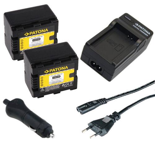 2x Batteria Patona caricabatteria casa//auto per Panasonic VW-VBN130
