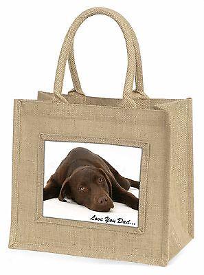 Labrador 'Liebe dich Papa' Stimmung Große Natürliche Jute-einkaufstasche Chr,