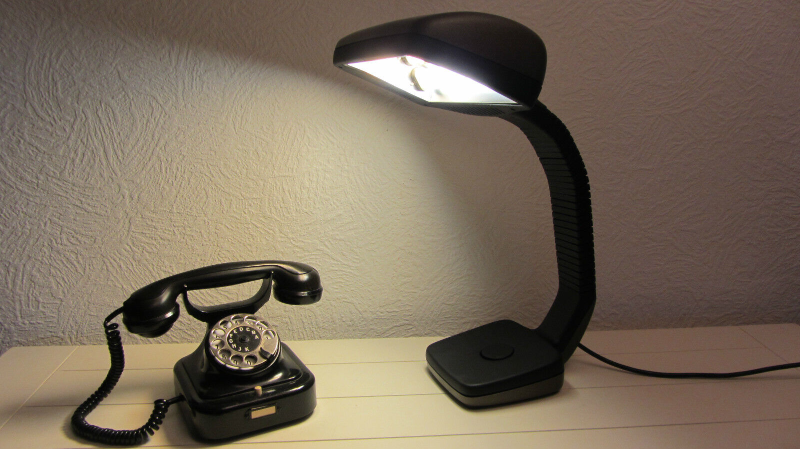 Mitiche Hoffmeister 70er vintage lampada scrivania tavolo ufficio lampada