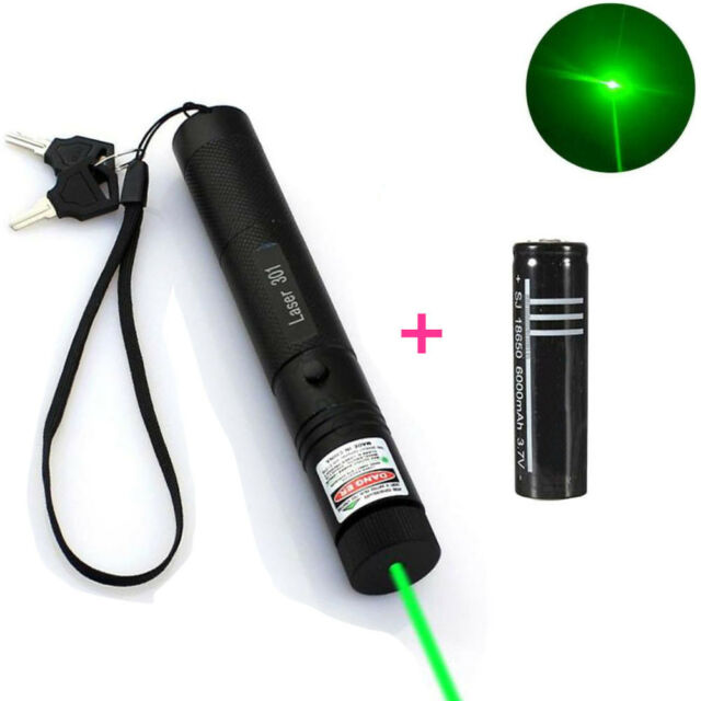 Military Green 1MW 532NM Laser Projector Pointer Pen Lazer Light Visible Beam UK