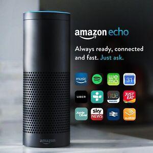 Details about Amazon Echo Smart Speaker with Alexa Voice Recogn  & Control  (UK stock) Black !!