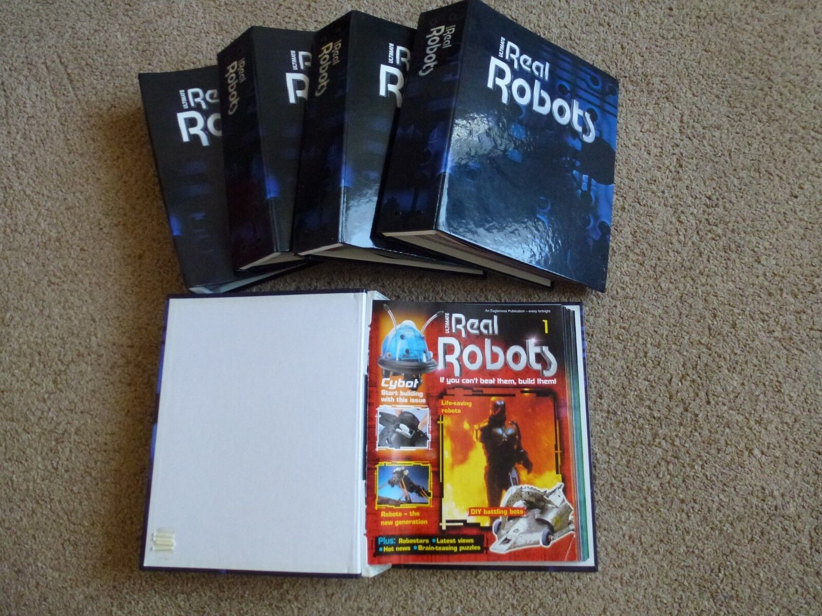 Ultimate Real Robots Complete Collection 1-96 including binders & toolkit