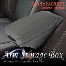 04-11 Scion xB Grey Leatherette Front Center Console Armrest Storage Box