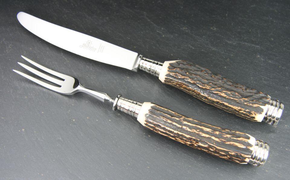 Hubertus Fruits Vaisselle KNIFE & FORK Stag  Nouveau