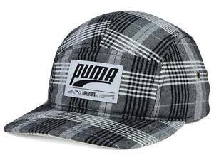 e21b9c86465 Puma Plaid Retro Patch 5 Panel Camper Hat Mens Adjustable Snapback ...