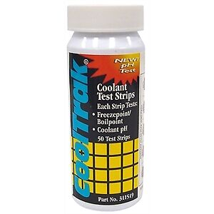 50 Per Bottle     COO311519 SET OF 6   CoolTrak Coolant Test Strips