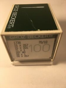 BOX OF 100 GROZ-BECKERT INDUSTRIAL SEWING NEEDLES 16X257 SIZE 70/10