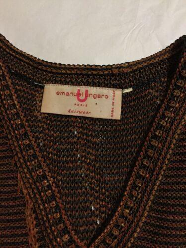 Vintage Paris Emanuel Kjole Ungaro tilstand Xs Strikvarer Fremragende I5v6qE