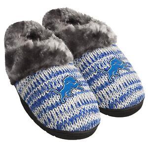 6890fa777 Detroit Lions Slippers Logo NEW Womens Slide House shoes! Peak Slide ...