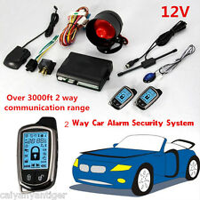 Universal 2 Way Car Alarm Security System W/ Super long Keyless Distance Control