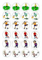 24 FOOTBALLER/FOOTBALL WAFER RICE PAPER EDIBLE FAIRY/CUPCAKE TOPPERS