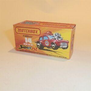 Matchbox Lesney Superfast 14 Morris Mini Ha Ha Empty Repro J Style