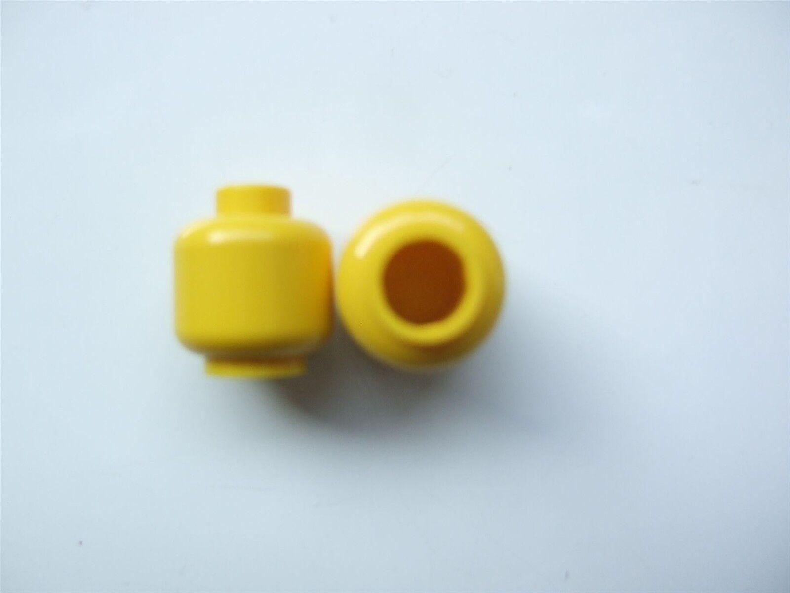– 6022320 282 2 x Lego Yellow Mini head No Sunglasses Parts /& Pieces