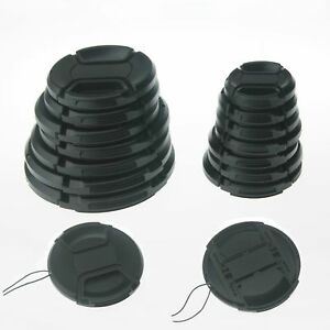 10PCS-55mm-Center-Pinch-Snap-On-Front-Lens-Cap-with-Cord-for-Cameras