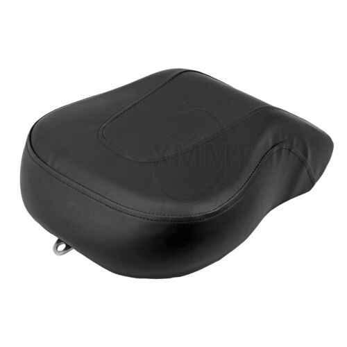 Motorcycle Rear Pillion Passenger Seat Leather Back Pad For Harley Fatboy FLSTF