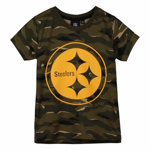 NFL Pittsburgh Steelers Camo Short Sleeve T Shirt Khaki Kids Fanatics