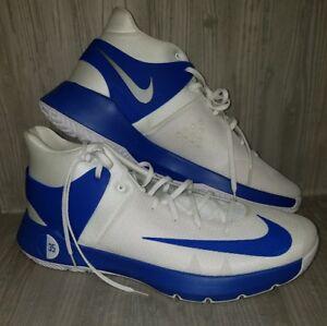 sports shoes 3f6a4 3f6c7 Image is loading Nike-KD-Trey-5-IV-BLUE-WHITE-Basketball-