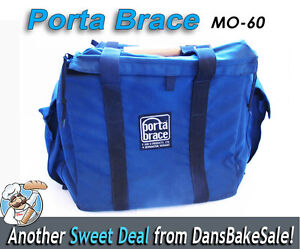 "Porta Brace MO-60 Heavy Duty 13"" Monitor & Gear Case w/ Pockets & Wooden Handle"