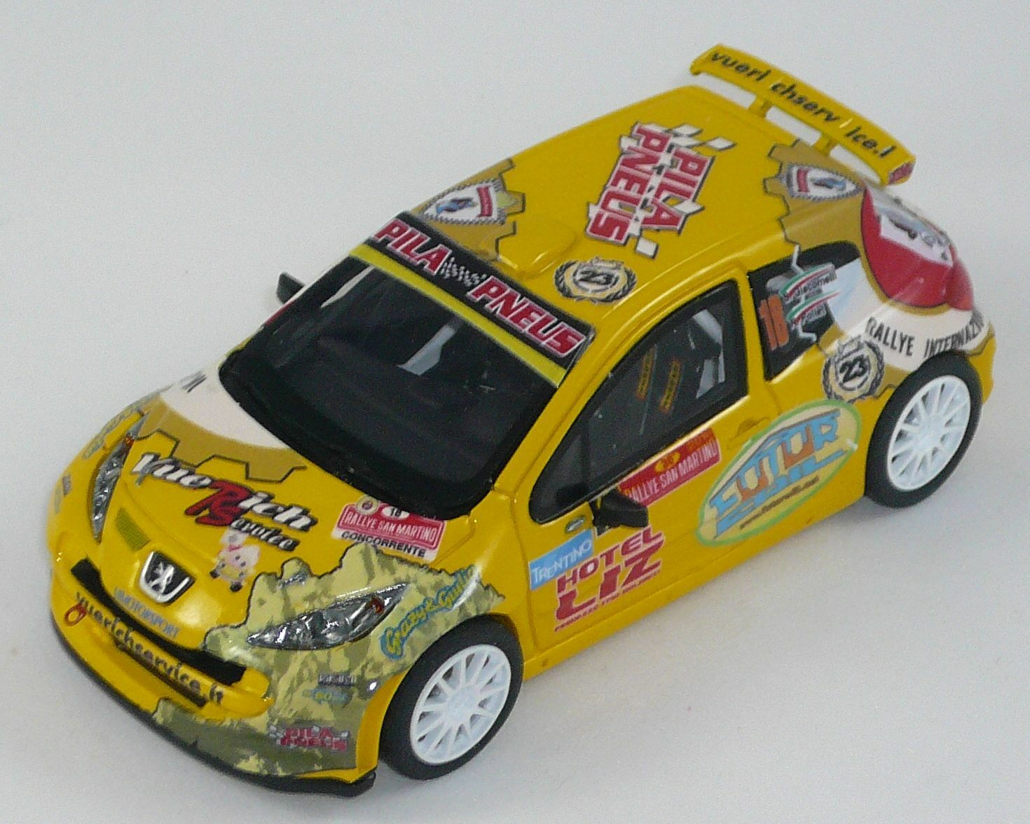 Peugeot 207 s2000 Giacomelli Rally San Martino 1 43 Scale Model Car Handmade
