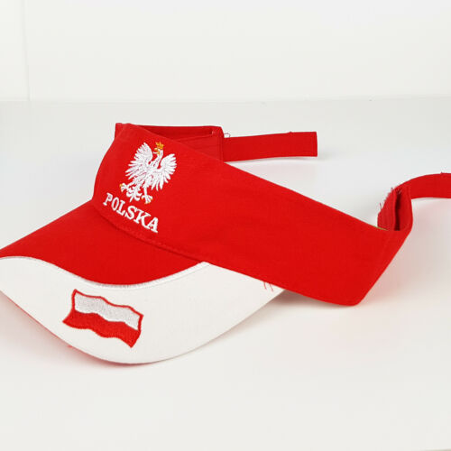 POLSKA Polen Polnische Flagge Fußball Fan Cap Sonnenblende Mütze