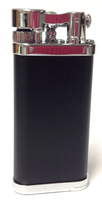 Old Boy IM Corona Butane Pipe Lighter 90 Degree Adjustable Flame Black - 1205
