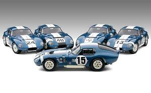Exoto 1:18 Cobra Saga 1965 Shelby Daytona Gagnants Seulement Cadeau Set