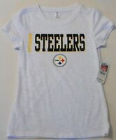 Pittsburgh Steelers Women's White Sleepwear T Shirt S M L Xl Cotton Blend