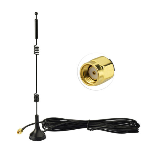 Dual Band WiFi 2.4GHz 5GHz Magnetic RP SMA Antenna for Wireless Mini PCI Express